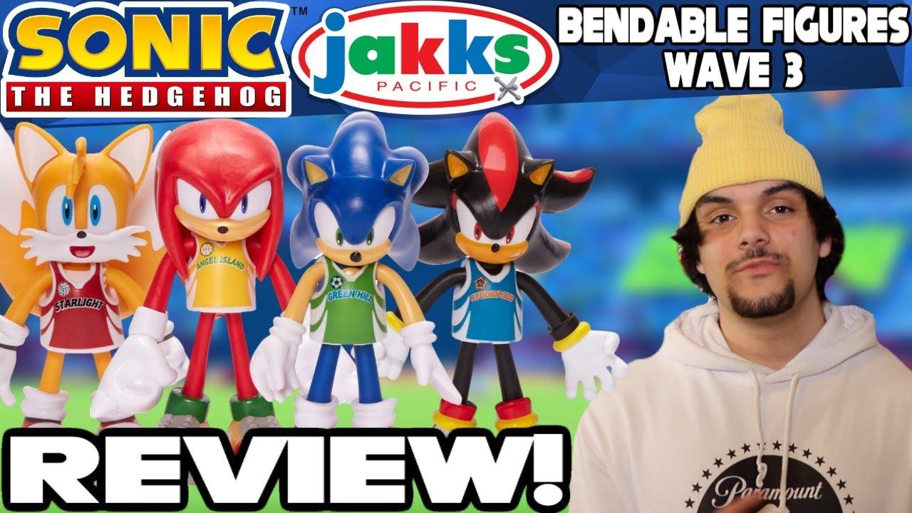 Sonic The Hedgehog Jakks Pacific Bendable Figures Wave 3 Review Unboxing Youtube