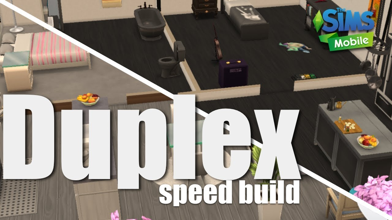 The Sims Mobile Speed Build How To Build A Duplex The Sims