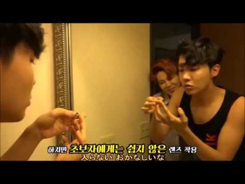 BTS 방탄소년단 [NOW 3 in Chicago] Jhope putting on Contact Lenses