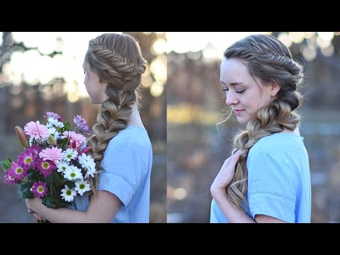 Side Pull Thru Braid Combo | Prom Hairstyles | Cute Girls Hairstyles