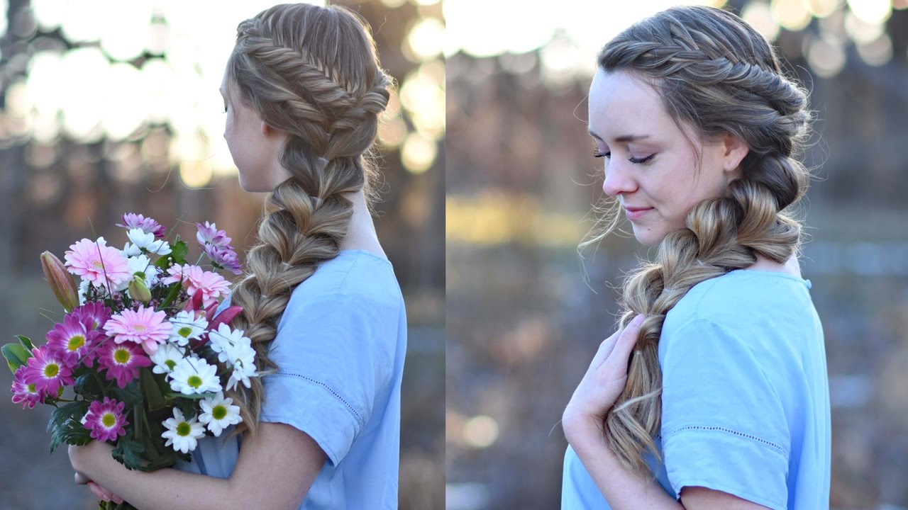 side pull thru braid combo   prom hairstyles   cute girls hairstyles