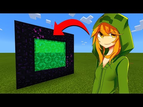 How To Make A Portal To The Creeper Girl Dimension In Minecraft!
