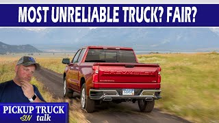 Consumer Reports 2021 Least Reliable Trucks - GM Dominates?