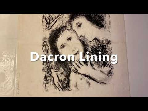 Paper Conservation: Repairing a Chagall Lithograph that had been folded into quarters.