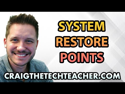 How To Create System Restore Point On Vista