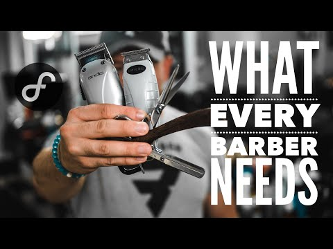 Necessary Tools For Beginner Barbers | 4K #2018