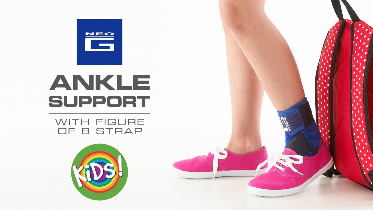 72cf99cde0 Neo G Kids Ankle Support with Figure of 8 Strap // How to Apply Guide