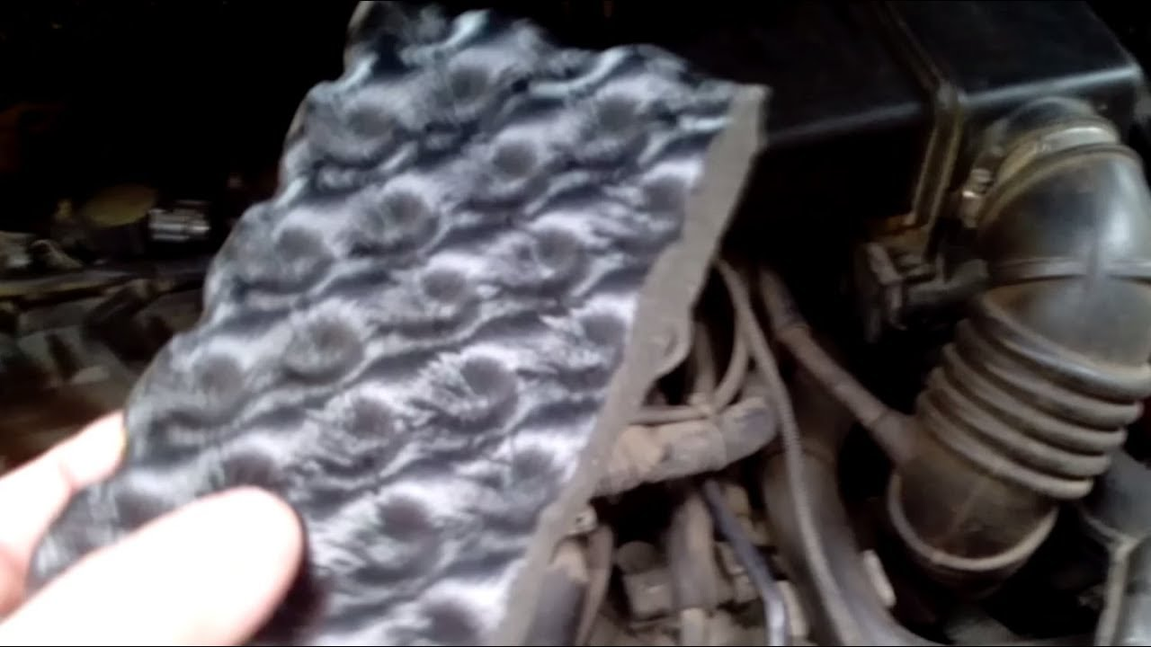 Car noise insulation  try reduce engine noise