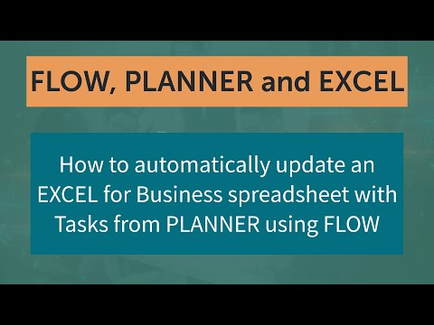 Automatically update EXCEL from PLANNER using FLOW