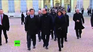 Elysée: François Hollande et son entourage partent pour la marche républicaine