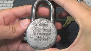 434 VINTAGE AMERICAN LOCK H10 SERIES PADLOCK FROM JAKE1973 GANZUADO, SPP sub eng