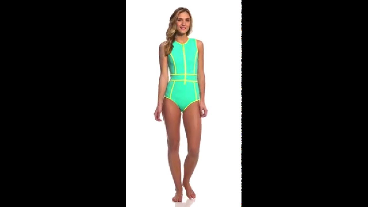 f1bef0fd45d Body Glove Breathe Forecast Reminisce Front Zip One Piece Swimsuit ...