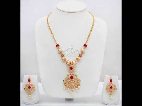 Latest Simple 10Gram Gold Pearl Necklace Designs