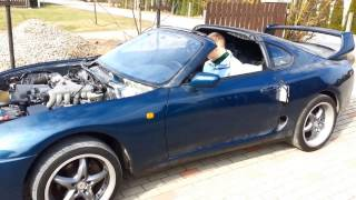 Toyota Supra JZA80 AET NA Auto First Drive After RHD To LHD Conversion