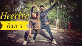 Heeriye - Race 3 | freestyle dance choreography with Inder verma & Dimple paul