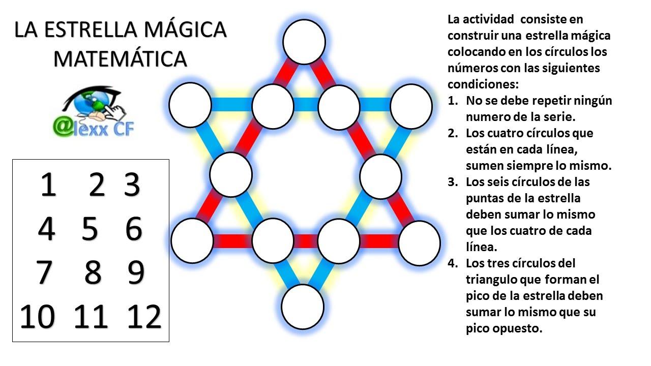 Estrella Mágica Matemática Fácil De Resolver Youtube