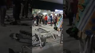 Live  accident sonipat Railway station part 2