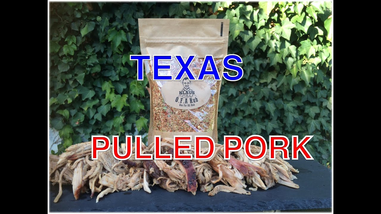 Pulled Pork Gasgrill Texas : Kg texas pulled pork in stunden klaus grillt youtube