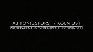 Blitzerskandal A3 km 0,80 Königsforst Köln Ost Gericht lehnt Eilantrag  Unterbr des Fahrverbot ab