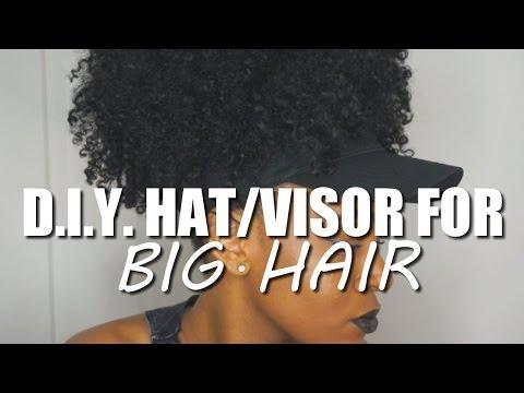 D.I.Y. HAT/VISOR FOR BIG HAIR