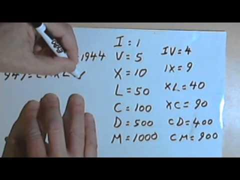Roman Numerals 127-1.11