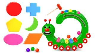 Learn Shapes with Wooden Hammer Toys - Shapes Videos Collection