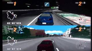 GT Pro Series (Wii) Split-Screen Race at Downtown Street