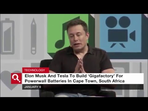 Elon Musk To Build Powerwall Battery Factory In South Africa