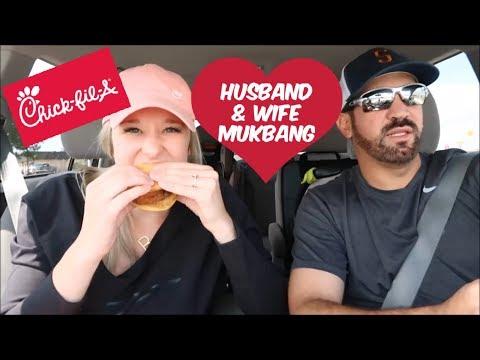 HILARIOUS HUSBAND AND WIFE MUKBANG VLOG   BRITTANI BOREN LEACH