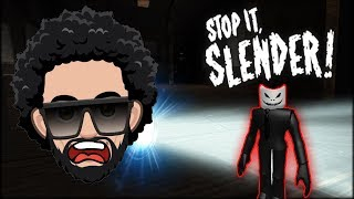 I faced my BIGGEST FEAR in Roblox Slenderman! Stop it Slender!