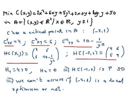 Minimizing a convex function with inequality restrictions