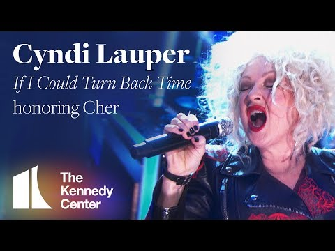 """Cyndi Lauper performs Cher's """"If I Could Turn Back Time""""   2018 Kennedy Center Honors"""
