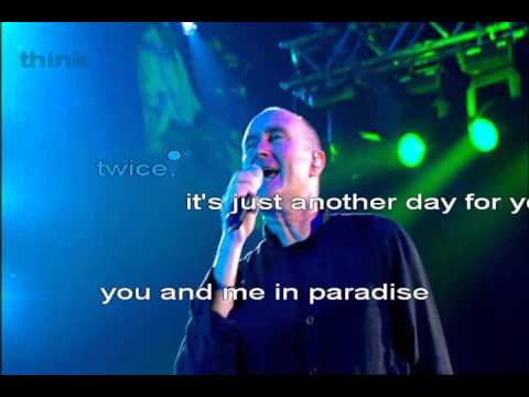phil collins another day in paradise karaoke youtube. Black Bedroom Furniture Sets. Home Design Ideas