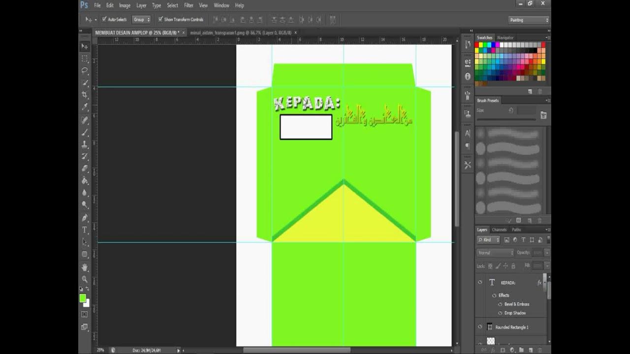 Cara membuat desain angpao di photoshop - YouTube