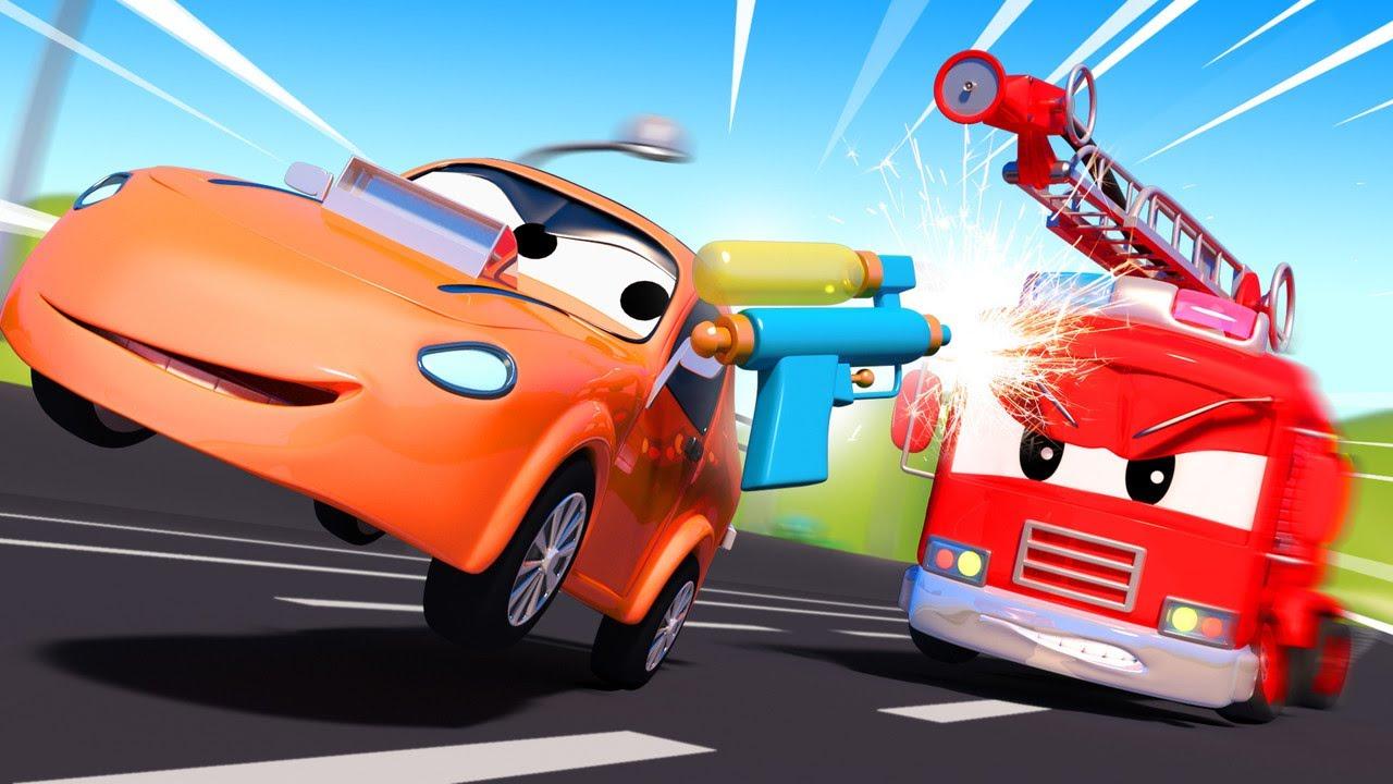 Детские мультфильмы с грузовиками - Фейерверки  | Авто Патруль | Car City World App