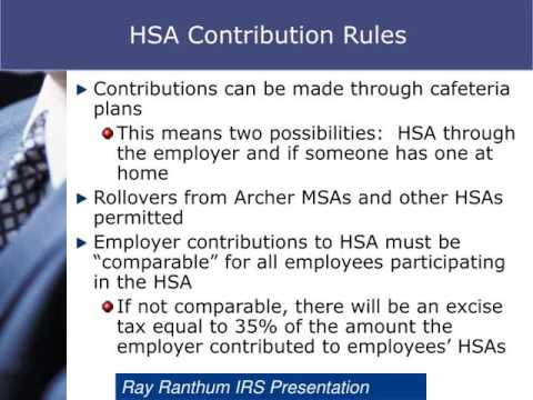 What are the rules and regulations of HSA accounts?
