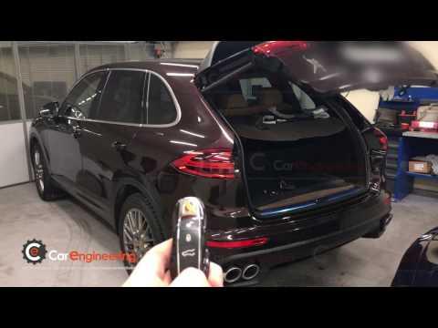 Закрытие багажника с помощью ключа Porsche Cayenne (Порше Кайен)