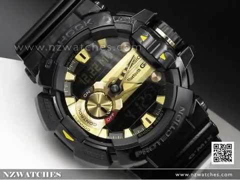 d528606e6 Casio G-Shock Bluetooth G Mix Music Control 200M Sport Watch GBA-400 ...