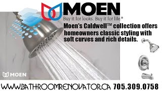 MOEN, Caldwell posi-temp shower faucet, bathroom renovations by the Bathroom Renovator Barrie.