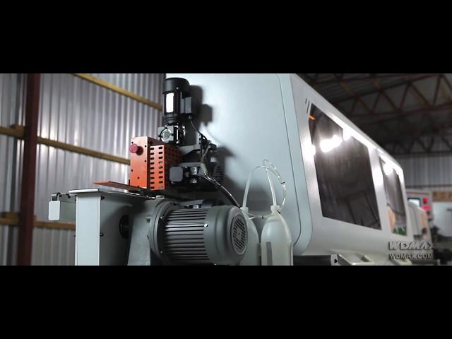 WD-465J Кромкооблицовочный станок  с прифуговкой и контурной фрезеровкой от WDMAX