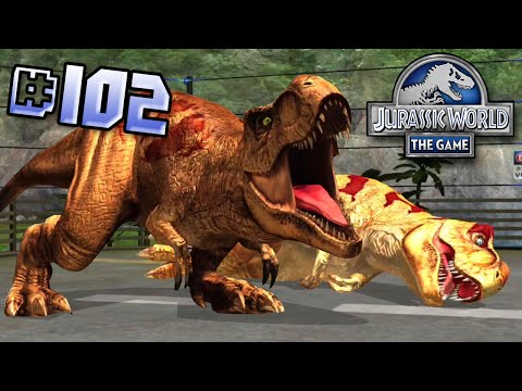 T.rex Team Brawlasaurs! || Jurassic World - The Game - Ep 102 HD