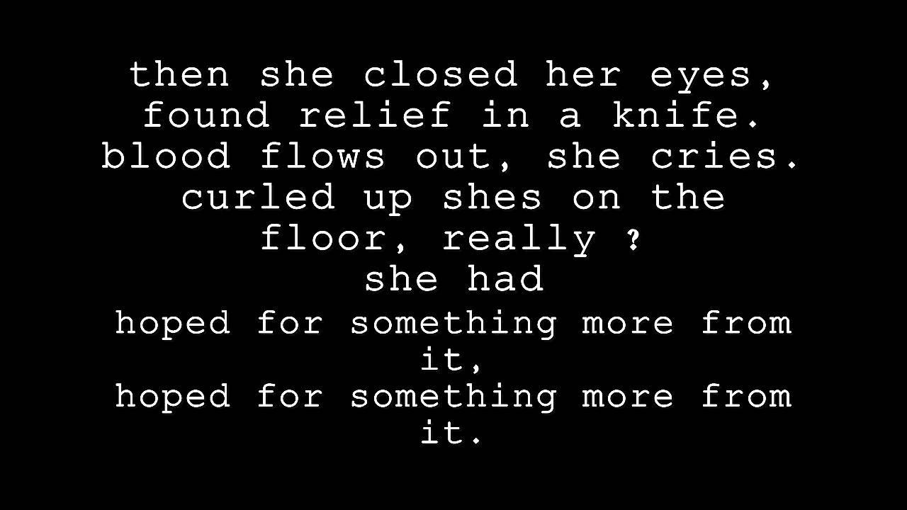 To Write Love On Her Arms - Stop The Bleeding Lyrics - YouTube
