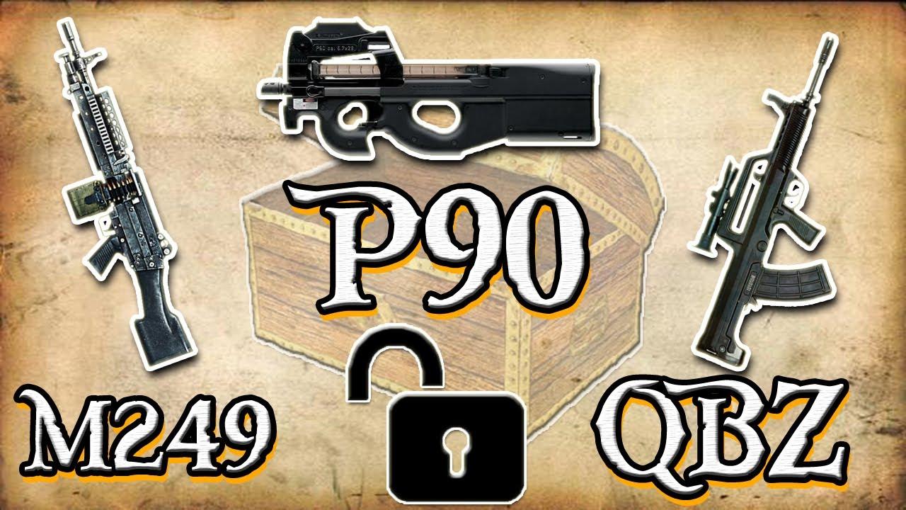 Como liberar P90 / Qbz 95 1 / M249 - BF4 - YouTube