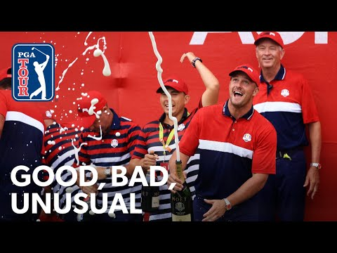 USA's record Ryder Cup, Bryson drives the first, Rahm carries the team