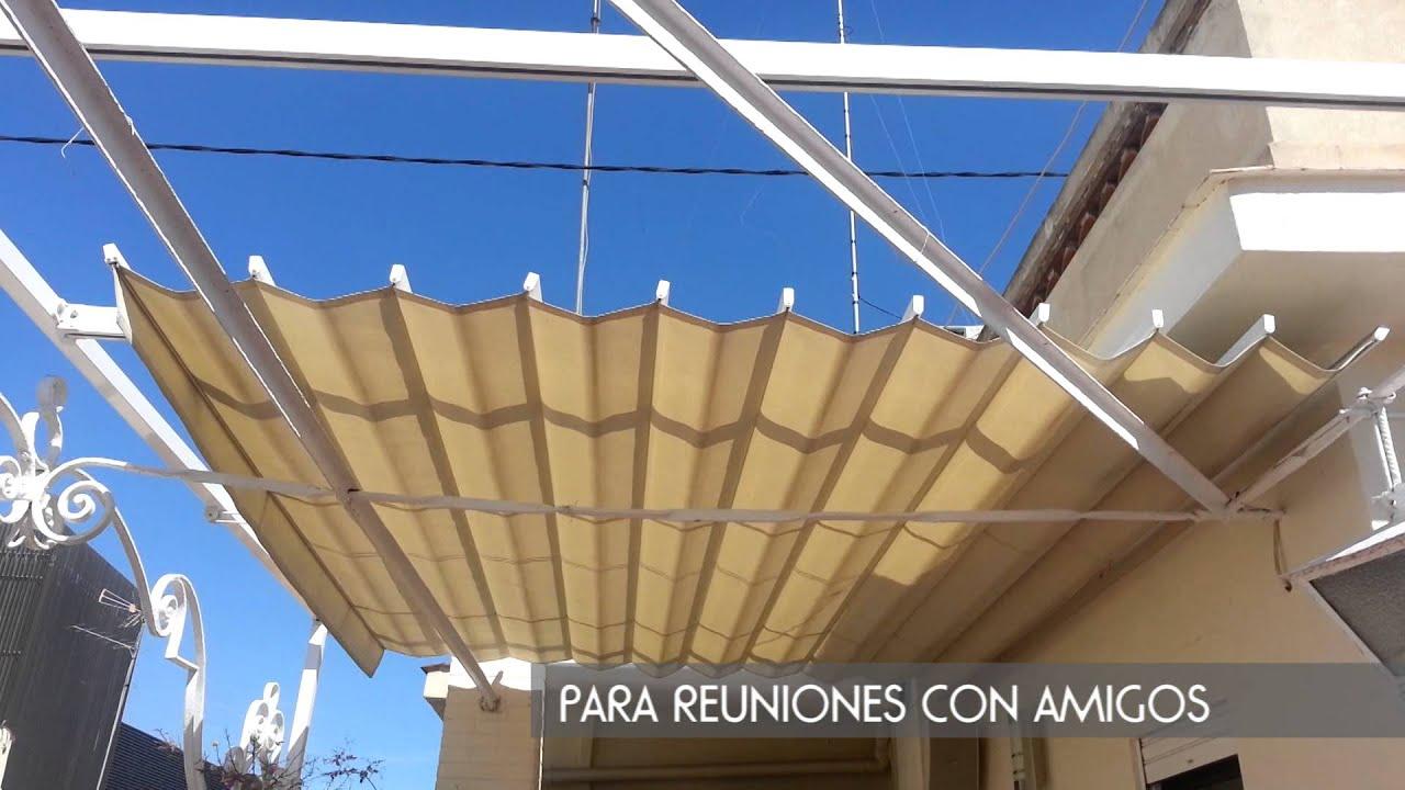 Toldo para tico como funciona toldo sol terraza en for Guias para toldos verticales