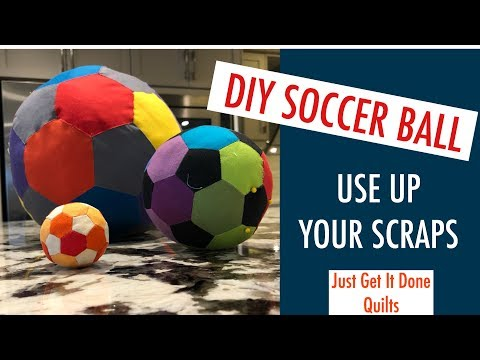 Make Your Own Soccer Ball/Football, English Paper Piecing Method