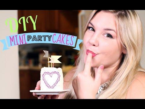 DIY Mini Party Cakes