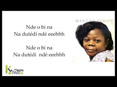 MARTHE ZAMBO - Malea Ma Muto [ Paroles - Lyrics]
