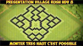 [HDV 8] Village RUSH Efficace & Design -Clash of Clans -