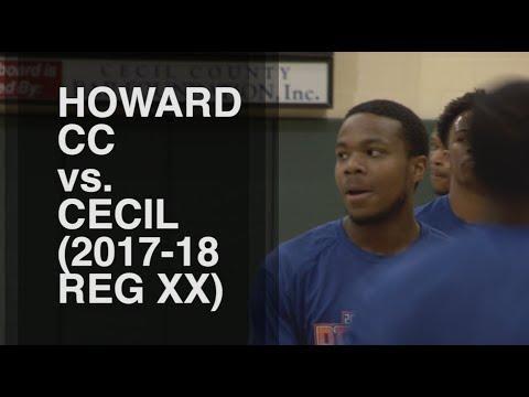 Howard CC vs Cecil College (2017-18 Region XX Tournament)